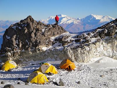 High camp at 20,000 feet.