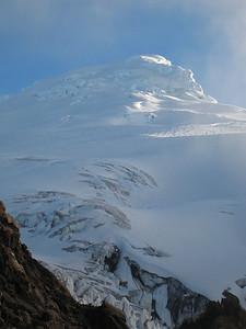 The heavy glaciation of Cayambe