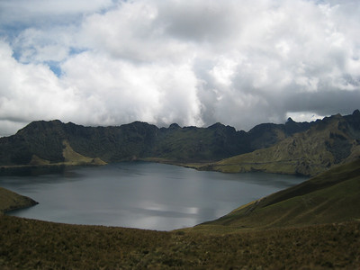 Lago Cuicocha where we do some acclimating hikes