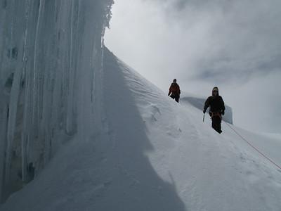 Climbing high on Cayambe