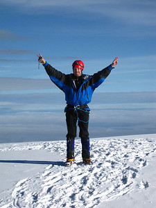 Basking in the glory of the Cotopaxi Summit.