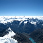 Somewhere out there in the clouds is the Peruvian Jungle to the east of the Cordillera Blanca.