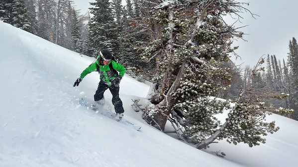 Nick surfing the Winter white