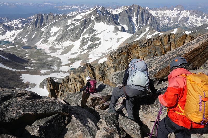 Descending off the summit