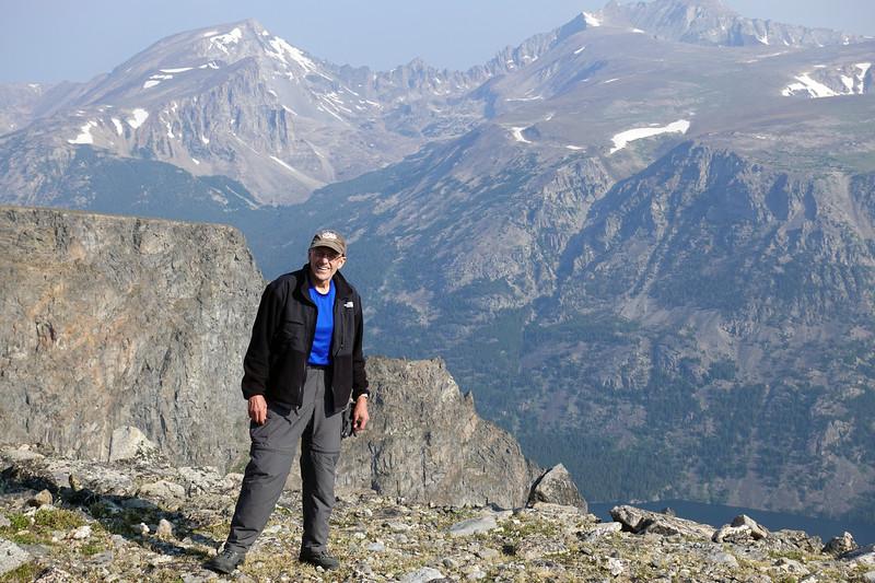 Todd far above Mystic Lake