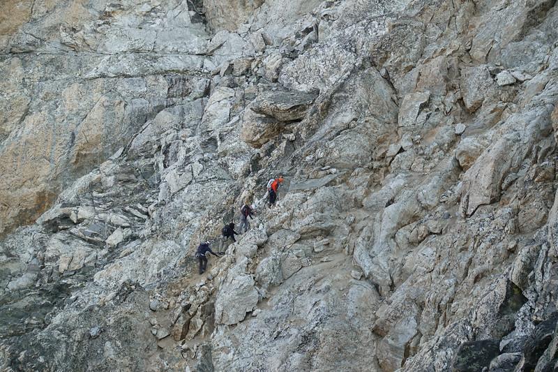 Krista, Bryce and Carson climb through the Mosh pit with Matt