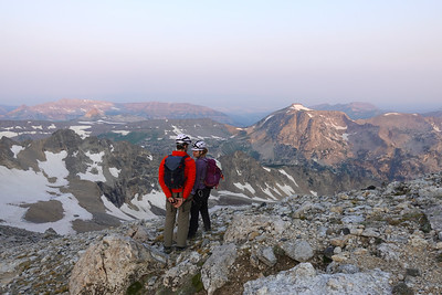 At sunrise along the Lower Saddle