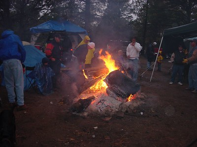 A truly legendery Navajo campfire, which kept the whole nation warm on Saturday night in the freezing rain.