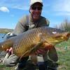 Jimmy with a big Bighorn river Carp.  Photo: Eric Paulson