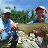"Bill and ""Catfish"" Matt with a good Horn bow.  Photo: Eric Paulson"