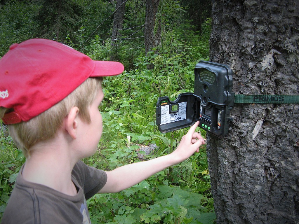 Prince erick Checking the trail cam