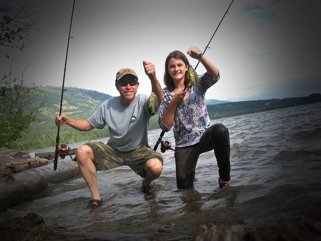 Me and My Neice Denalli fishing the resivor