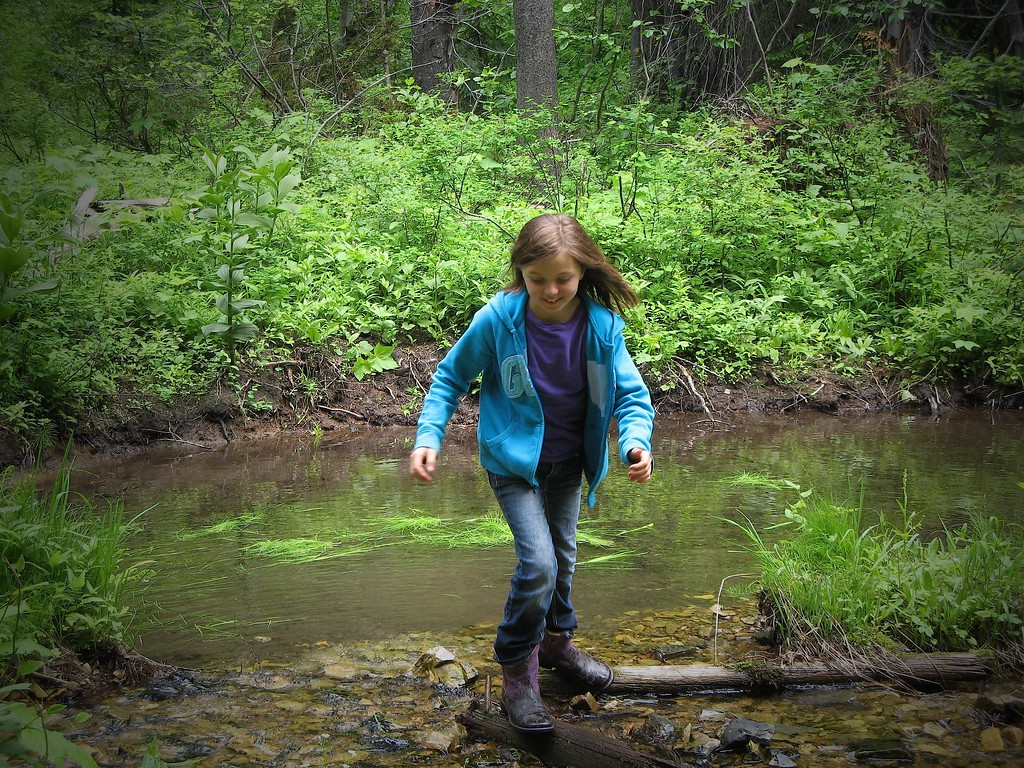Abby  exiting the elk wallow