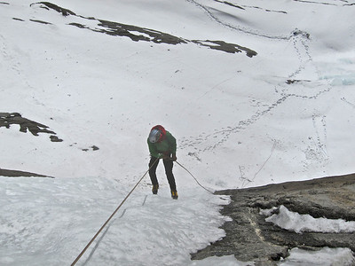 rappel to the ground after climbing Bourgeau left