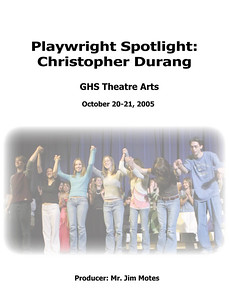 000 Cover-Playwright Spotlight