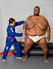 """The heaviest living athlete is Sumo wrestler Emmanuel """"Manny"""" Yarborough of Rahway, New Jersey, USA. He stands 2 m 3 cm (6 ft 8 in) tall and weighs a colossal 319.3 kg (704 lb). He was introduced to Sumo by his judo coach and seven years later is ranked number one in the Open Sumo Wrestling Category for Amateurs. <br /> <br /> All rights reserved Guinness World Records"""