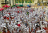 The largest gathering of people dressed as cows was 470 participants, at an event organized by Chick-fil-A (USA) at George Mason University, Fairfax, Virginia, USA, on 2 July 2013.<br /> <br /> All rights reserved Guinness World Records