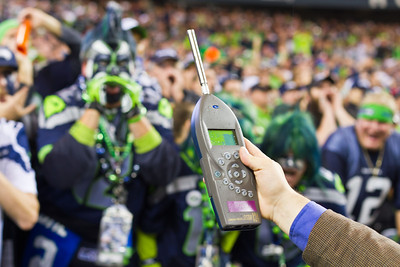 The loudest crowd roar at a sports stadium is 137.6 dbA and was achieved by Seattle Seahawks Fans (USA), at Centurylink Stadium in Seattle, Washington, USA, on 2 December 2013.  All rights reserved Guinness World Records