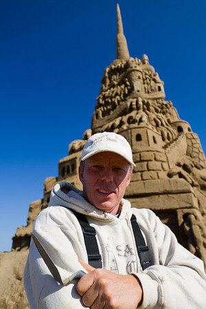 The tallest sandcastle measured 11.63 m (38 ft 2 in) and was created by Ed Jarrett (USA) on the beach adjacent to the Jenkinson's Boardwalk in Point Pleasant Beach, New Jersey, USA, on 29 October 2013.  All rights reserved Guinness World Records