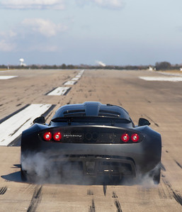 The fastest time for a production car to travel from 0 - 300 km/h was 13.63 seconds achieved by a Hennessey Venom GT, manufactured by Hennessey Performance (USA) and driven by John Kiewicz at Ellington Field in Houston, Texas, USA, on 10 January, 2013.  All rights reserved Guinness World Records