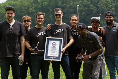 The fastest ground speed by a battery-operated remote-controlled quadcopter is 165.20 mph (265.87 km/h), achieved by a DRL drone piloted by Ryan Gury of Drone Racing League (both USA) at Cunningham Park, Queens, New York, USA on 13 July 2017.