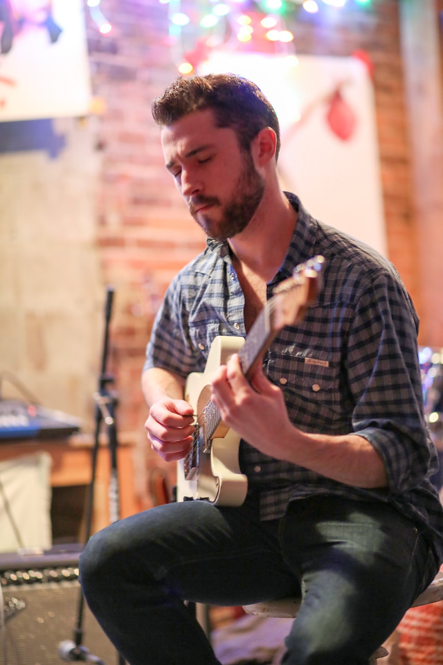Jackson FitzGerald on guitar at DownRight Music and Art. <br /> Photo by John Fitts