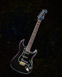 Dark drawing of Fender Guitar 401.2110A