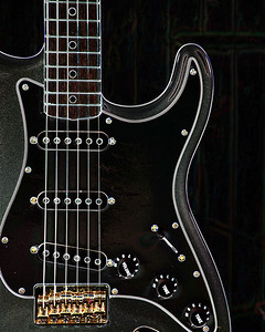 Dark drawing of Fender Guitar 405.2110A