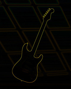 Dark drawing of Fender Guitar 413.2110A