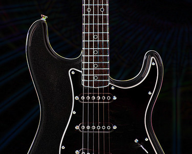 Dark drawing of Fender Guitar 408.2110A