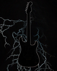 Dark drawing of Fender Guitar 412.2110A