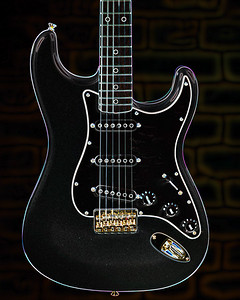 Dark drawing of Fender Guitar 407.2110A