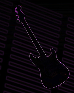 Dark drawing of Fender Guitar 414.2110A