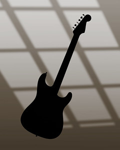 Fender Strat Guitar in Black and White 213.2110A