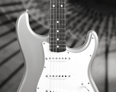 Fender Strat Guitar in Black and White 208.2110A