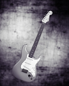 Fender Strat Guitar in Black and White 201.2110A