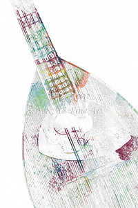 213 .1845 Framus Mandolin Watercolor