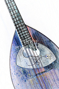 214 .1845 Framus Mandolin Watercolor
