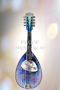 204 .1845 Framus Mandolin Watercolor