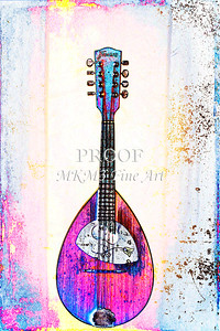 202 .1845 Framus Mandolin Watercolor