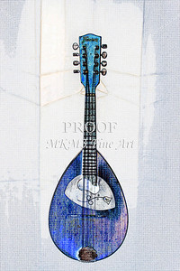 205 .1845 Framus Mandolin Watercolor