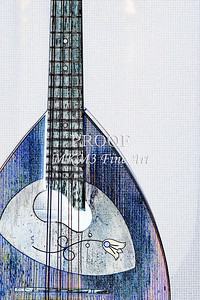 206 .1845 Framus Mandolin Watercolor