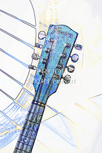 209 .1845 Framus Mandolin Watercolor
