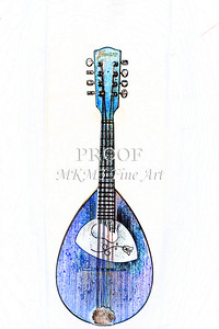 201 .1845 Framus Mandolin Watercolor