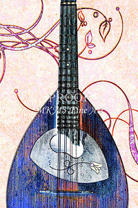 200 .1845 Framus Mandolin Watercolor