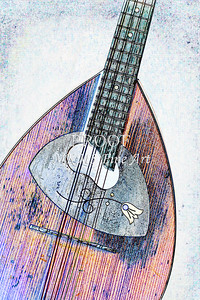 212 .1845 Framus Mandolin Watercolor