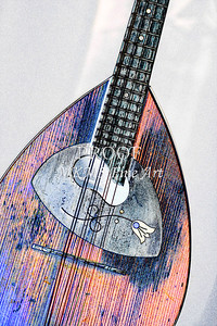 210 .1845 Framus Mandolin Watercolor