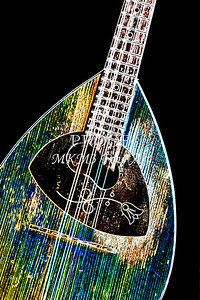 105 .1845 Framus Mandolin Drawing