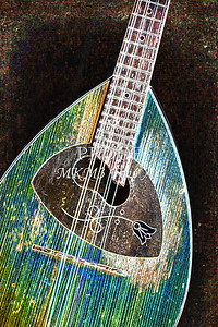 106 .1845 Framus Mandolin Drawing