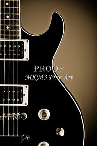 Electric Guitar Image in Black and White Sepia 3319.01